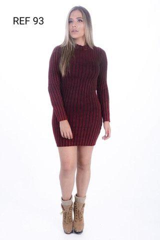 Atacado Vestido de Lã Premium  - Foto 4