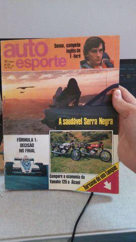 Revistas automotivas auto esporte, vários anos