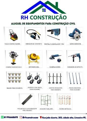 Aluguel de equipamentos para construção civil na cidade de limoeiro
