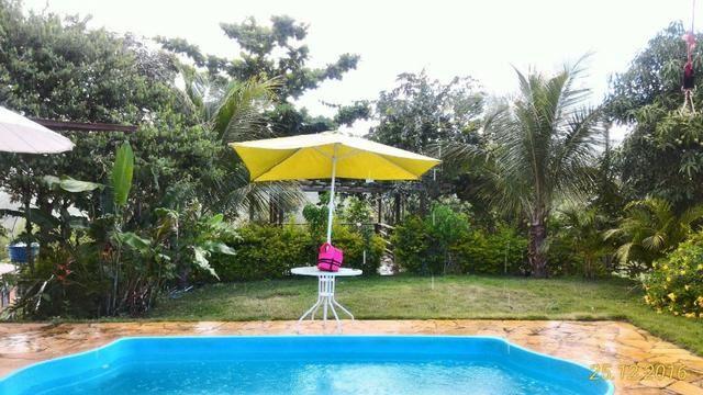 Chácara de 10.000m² no Corumbá III. Casa, piscina aquecida, área de lazer c/ churrasqueira