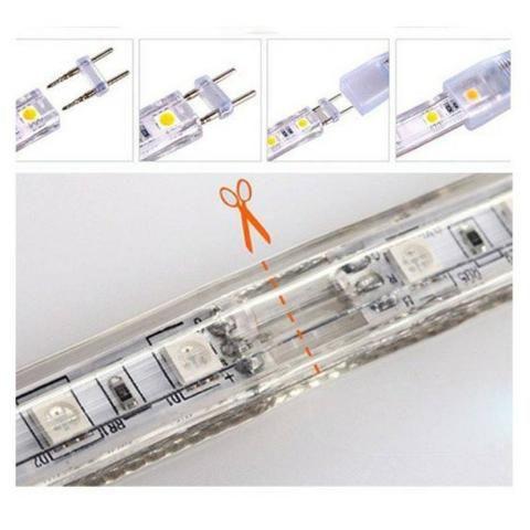 Mangueira achatada de LED - Branco Quente ou Frio - No Metro - Promoção!! - Mega Infotech - Foto 3