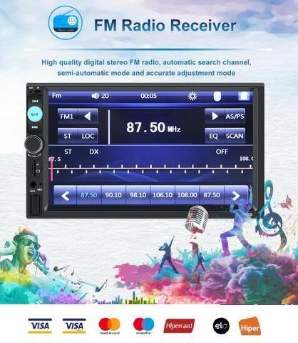 Central Multimídia Display Digital Bluetooth, Usb, Fm - Foto 9
