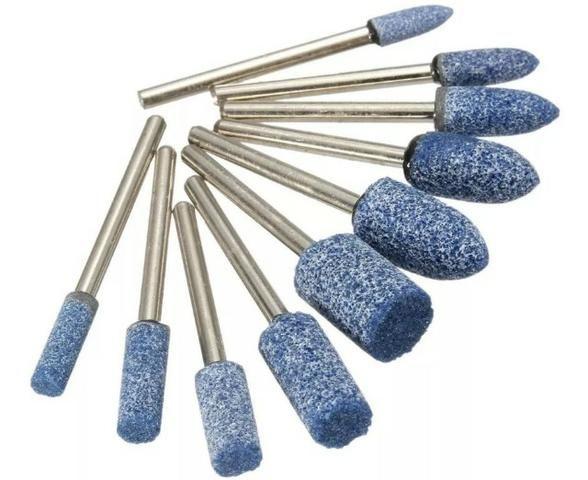 COD-FR29 10 Pcs 1/8 Abrasivo Montado Pedra Rotativa Ferramenta De Moa Arduino - Foto 3