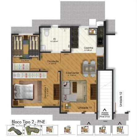 Apartamento em araucária condomínio clube, excelente região - Foto 3