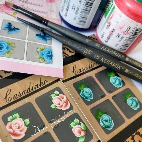 Aprenda a fazer Adesivos Artesanais para Unhas/curso online - Foto 3