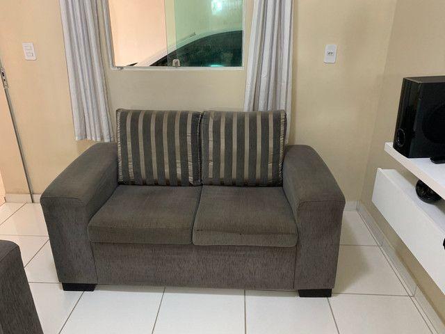 Conjunto de sofá de 2 e 3 lugares. Semi Novos R$ 700,00 - Foto 3