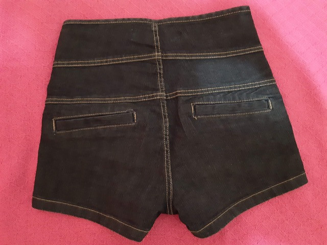 Short jeans cós alto e botões - Foto 3