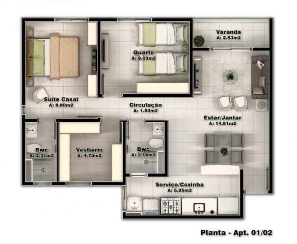 Apartamento residencial à venda, Montese, Fortaleza - AP2634. - Foto 14