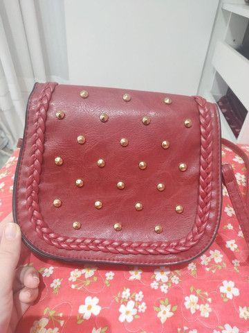 Bolsa vermelha nunca usada