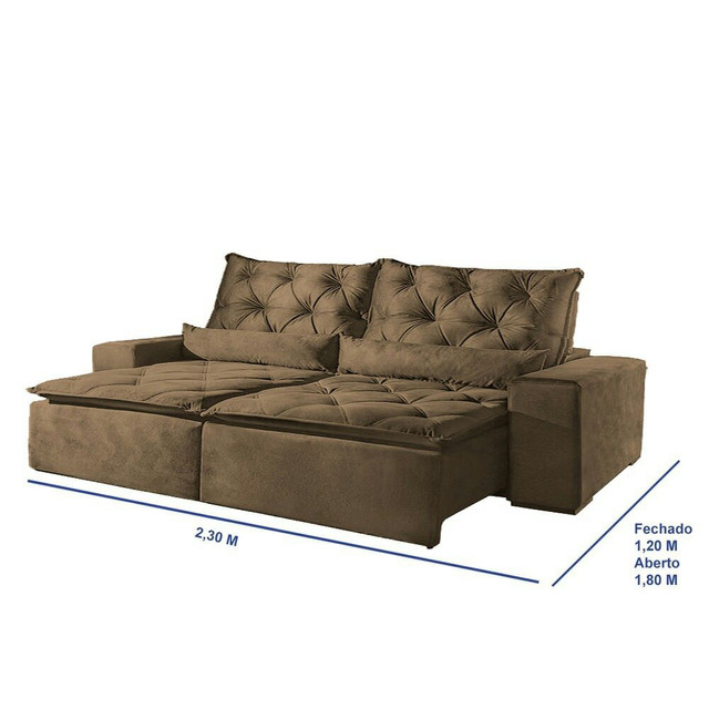!!!Sofá retrátil e reclinável alto padrão Infiniti  - Foto 3