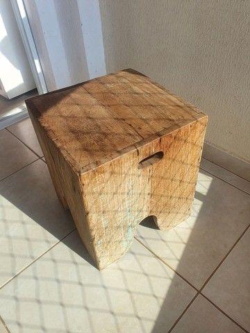 Vende-se banco/banqueta madeira rústica.  - Foto 3
