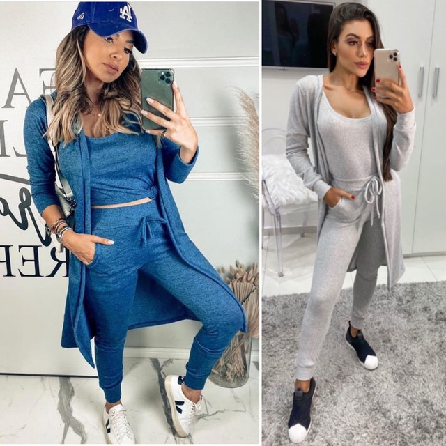 Conjunto moda mulher 3 peças