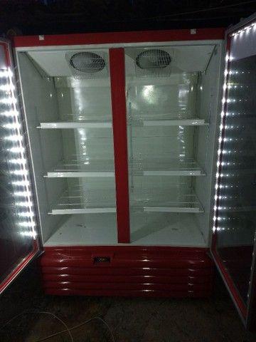 Freezer expositor metalfrio 1022 litros 220V super novo - Foto 5