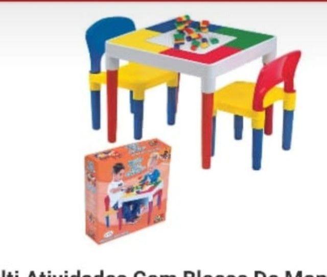 Mesa multe atividades cm 2 cadeiras