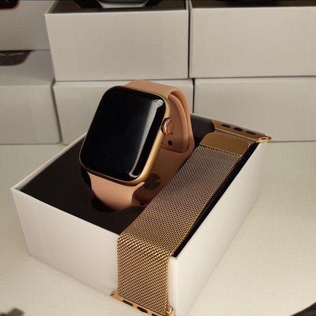 Kit Smart - Smartwatch IWO 26 + Pulseira Milanesa Extra + Película Protetora para Tela  - Foto 2