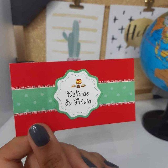 Tag de roupa, cartões de agradecimento, cartão de Visita.  - Foto 4
