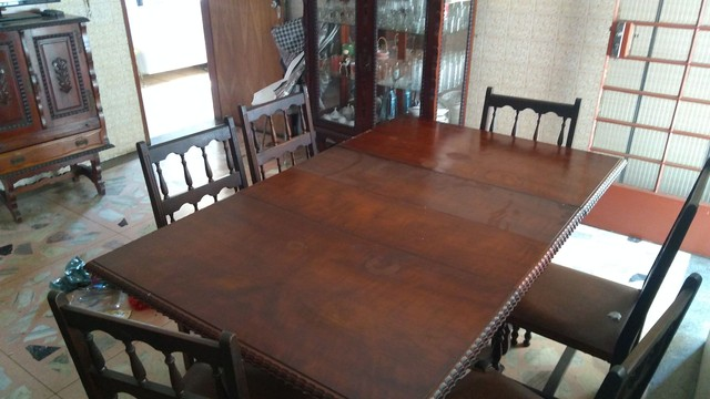 Mesa antiga em madeira nobre - somente a mesa - Foto 3