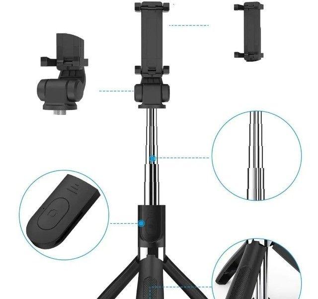 Bastão Tripé Mini 360º Pau De Selfie Bluetooth 3em 1 Celular - Foto 4