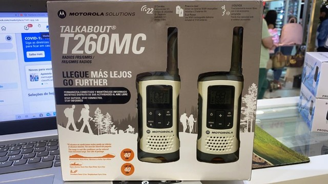 Rádio Comunicador Motorola T260MC 25 Milhas / 40 km Bivolt - Branco / Cinza - Foto 2
