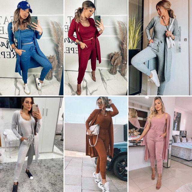 Conjunto moda mulher 3 peças - Foto 2
