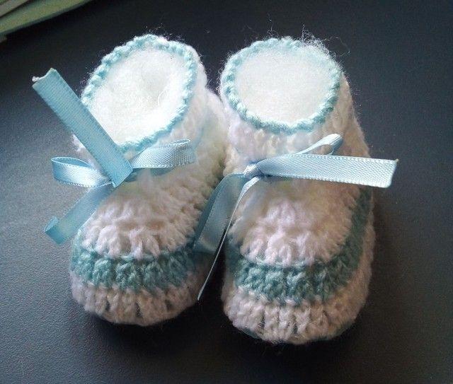 Sapatinhos em crochê  - Foto 3