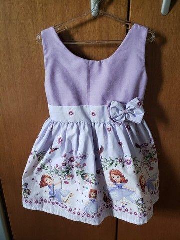 Vestido Princesa Sofia - Tam 3