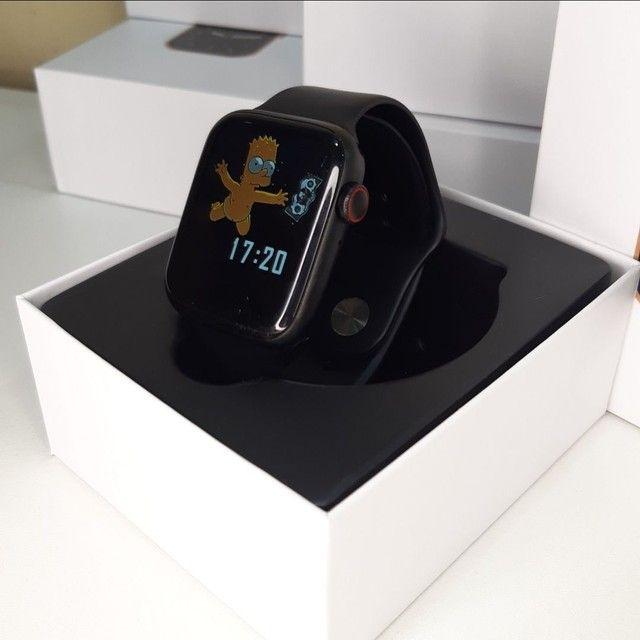 Kit Smart - Smartwatch IWO 26 + Pulseira Milanesa Extra + Película Protetora para Tela  - Foto 4