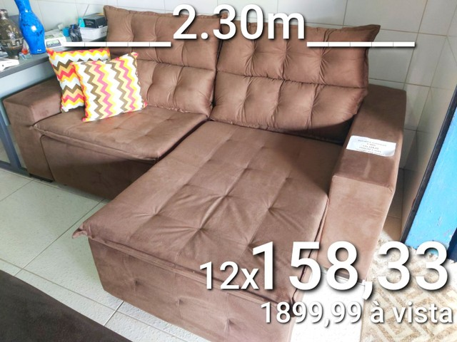 Sofás novos, retrátil e reclinável, boleto ou cartão, consulte condições  - Foto 2
