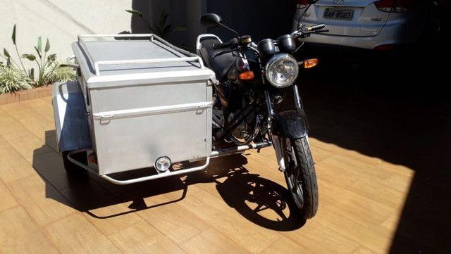 Moto Yes 125 2008 com sidecar carretinha baú capacidade 300L