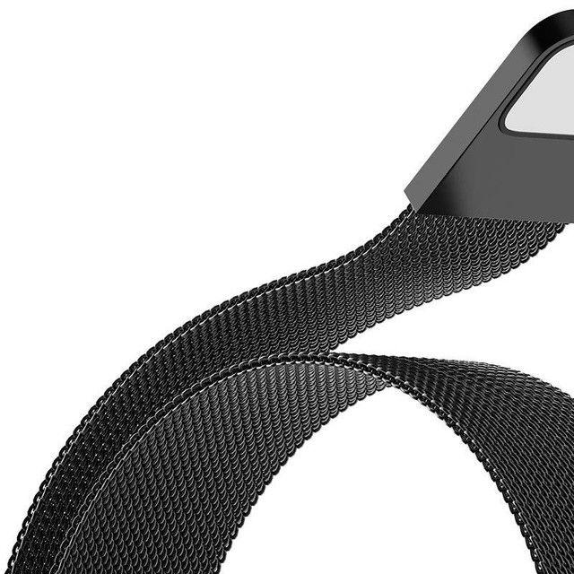 Pulseira Magnética Milanese, Pulseira De Aço Inoxidável Para Xiaomi Mi Band 5 6  - Foto 6