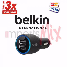 Carregador Veicular Dual Belkin Iphone Original 5 5s 6