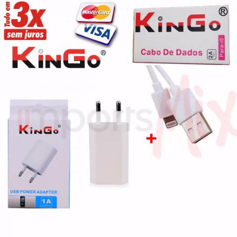 Kit Carregador Iphone 5,6 KinGo