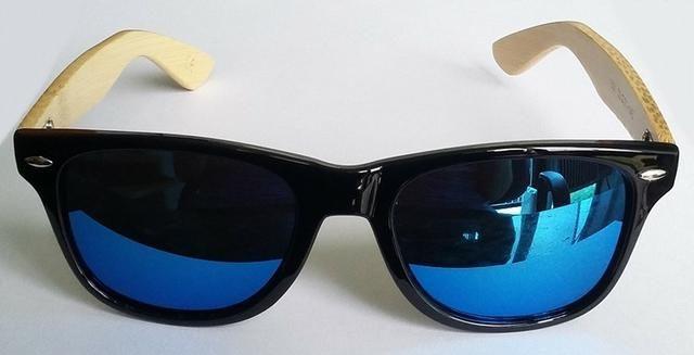 Óculos De Sol De Madeira/bambu Original Importado - Novo