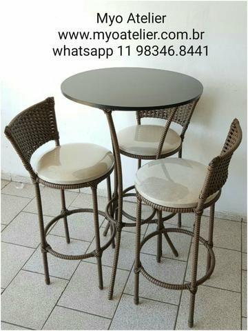 Mesas e Cadeiras em ferro e aluminio - Foto 3