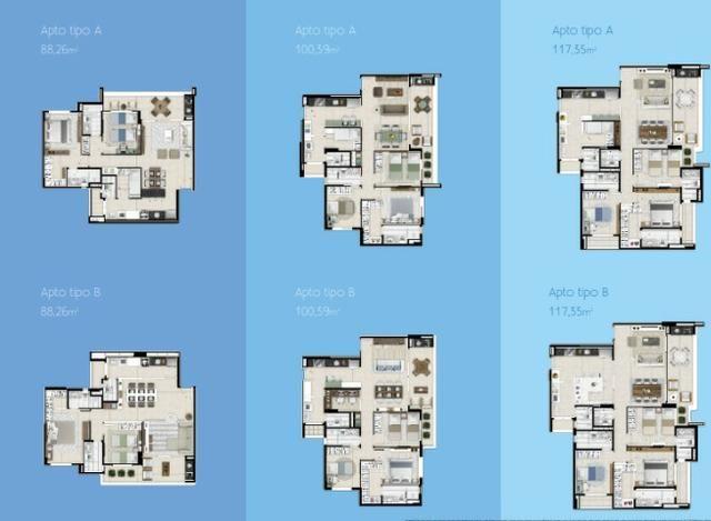 (JAM) Apartamento nas Dunas 88 a 117m² 3 suites 2 vagas
