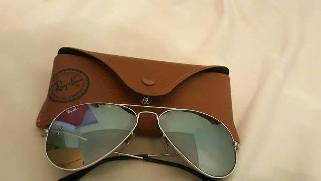 Óculos Ray-Ban aviator feminino original, com estojo. - Foto 4