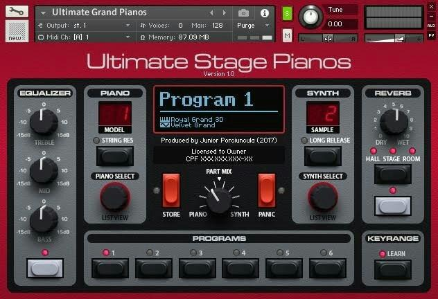 Piano+pads nord stage para kontakt