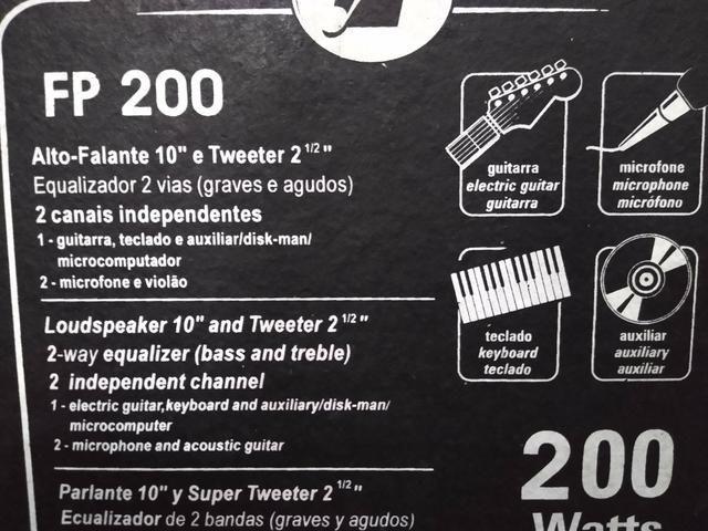 Caixa amplificada profissional fp200 - Foto 3