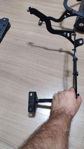 Suporte lateral e traseiro baú GIVI e caixa de ferramentas F800 GS - Foto 8