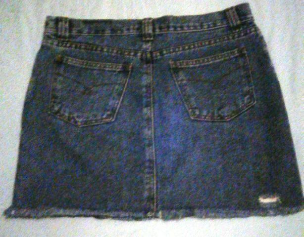 Oferta mini saia jeans destróier - Foto 2