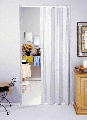 Porta PVC Sanfonada Branca ou Marrom Nova de 0,70cm a 1,00m (valores na descrição)