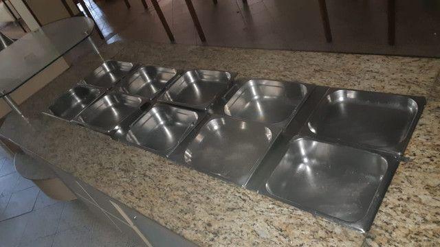 Conjunto Balcões de Buffet de Madeira quente e frio - Foto 2