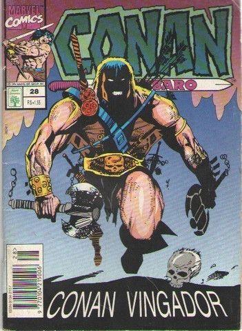 Revista em Quadrinhos Conan, o Barbaro - Ed. 28 - 1994 - 84pg - Marvel-Abril