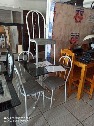Oferta!Mesas de pedra e madeira com 04 ou 06 cadeiras  - Foto 4