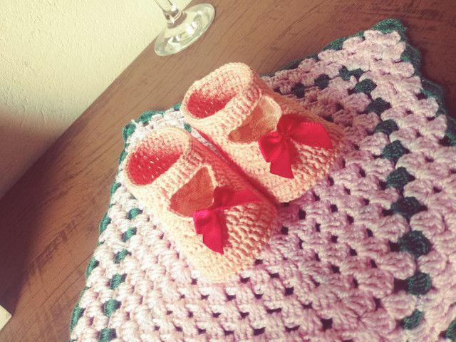 Sapatinhos de crochê - Foto 2