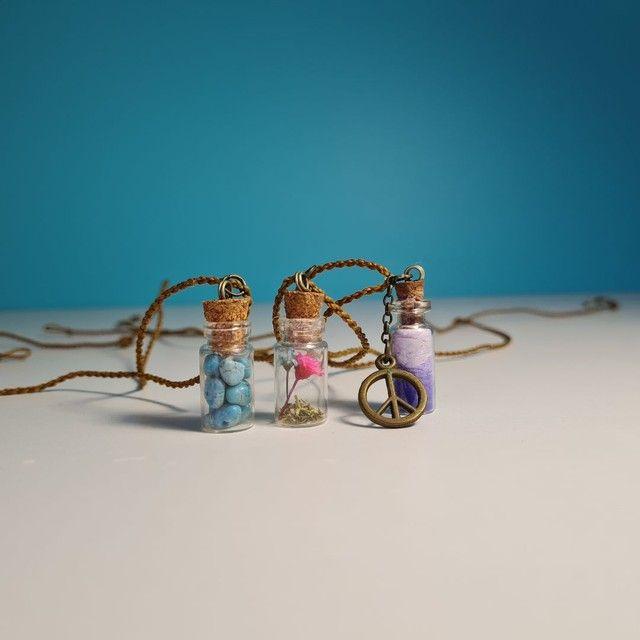 Kit 3 colares hippie artesanais