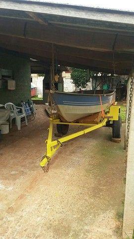 Vendo barco aluminio 4mts borda baixa - Foto 3