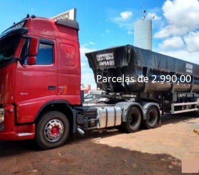 Volvo FH 460 6x2 2015 na Caçamba Rondon Entrada mais Parcelas com Contrato de Serviço. - Foto 7