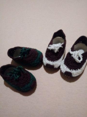 Sapatinhos de crochê - Foto 4