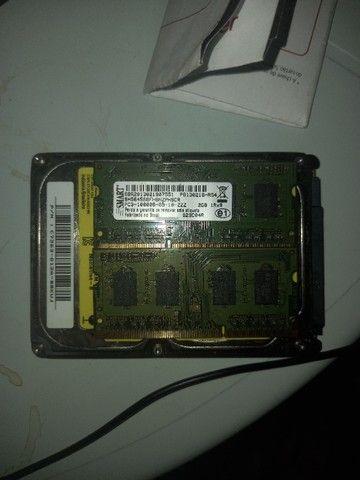HD 500 giga e 2 memórias 2 gb  - Foto 3